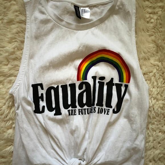 8ec1005d6d05b9 H M Tops -  Equality  Pride Shirt